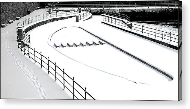 Hartlepool Acrylic Print featuring the photograph Shapes In The Snow by Barry Hayton