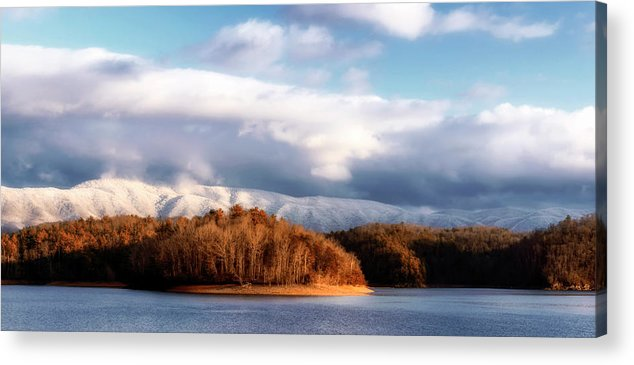 South Holston Lake Acrylic Print featuring the photograph A New Day Dawns by Dion Wiles