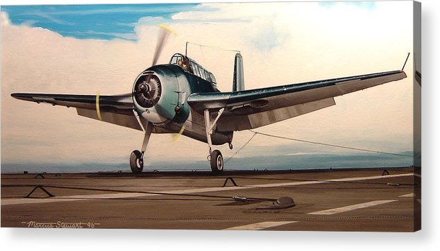 Painting Acrylic Print featuring the painting Coming Aboard by Marc Stewart