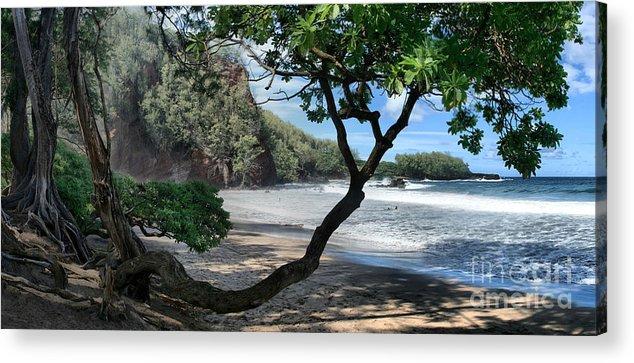 Aloha Acrylic Print featuring the photograph Enchanted Rocks Koki Beach Haneoo Hana Maui Hawaii by Sharon Mau