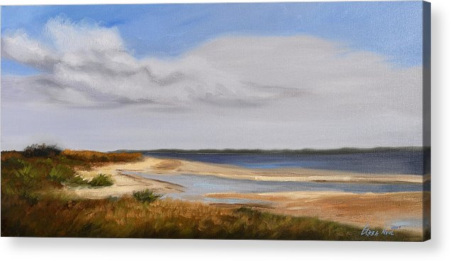Landscape Acrylic Print featuring the painting Honeymoon Island by Greg Neal