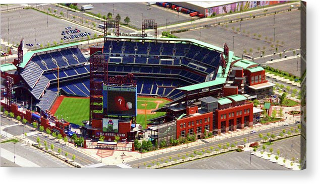Aerial Photograph Acrylic Print featuring the photograph Phillies Citizens Bank Park Philadelphia by Duncan Pearson