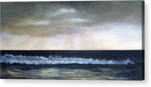 Stormy Sky Acrylic Print featuring the painting West Coast by Victoria Heryet