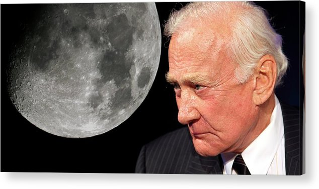 Adult Acrylic Print featuring the photograph Buzz Aldrin by Detlev Van Ravenswaay
