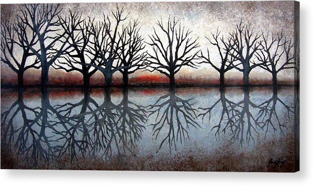 Tree Acrylic Print featuring the painting Reflecting Trees by Janet King