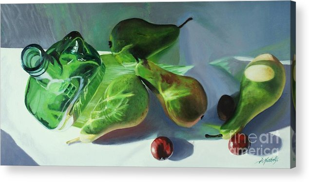 Pears Acrylic Print featuring the painting Play Of Light by Diana Marshall