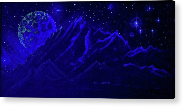Cosmic Light Series Acrylic Print featuring the painting Cosmic Light Series by Len Sodenkamp