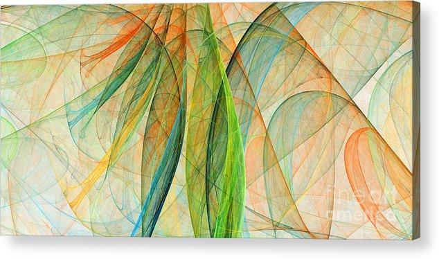 Scarf Acrylic Print featuring the digital art Colorful Silk Scarf by Odon Czintos