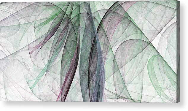 Scarf Acrylic Print featuring the digital art Colorful Silk Scarf by Odon Czintos