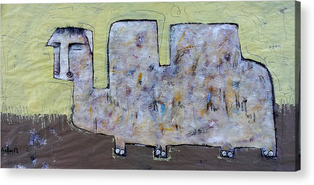 Abstract Acrylic Print featuring the painting Animalia Camelus 2 by Mark M Mellon