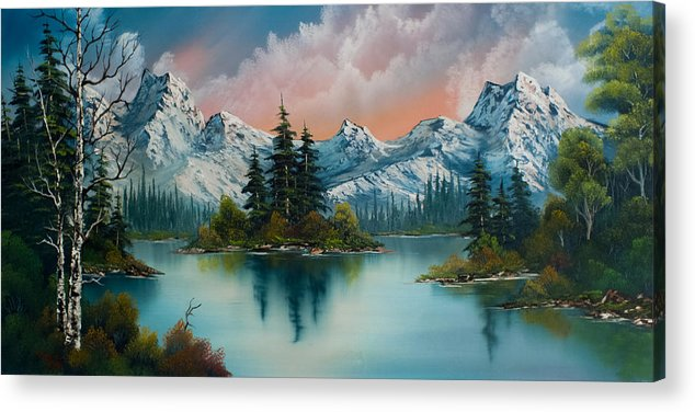 Landscape Acrylic Print featuring the painting Autumn's Glow by C Steele