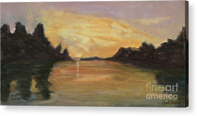 Belle River Acrylic Print featuring the painting Belle River II by Carol Oufnac Mahan