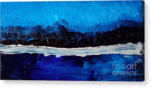 Blue Acrylic Print featuring the painting Blues by Holly Picano