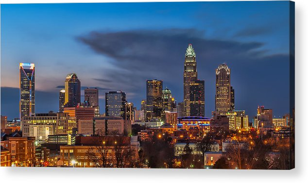 Charlotte Acrylic Print featuring the photograph Charlotte North Carolina by Brian Young