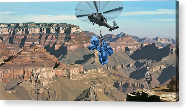 Astronaut Acrylic Print featuring the painting Grand Canyon by Scott Listfield