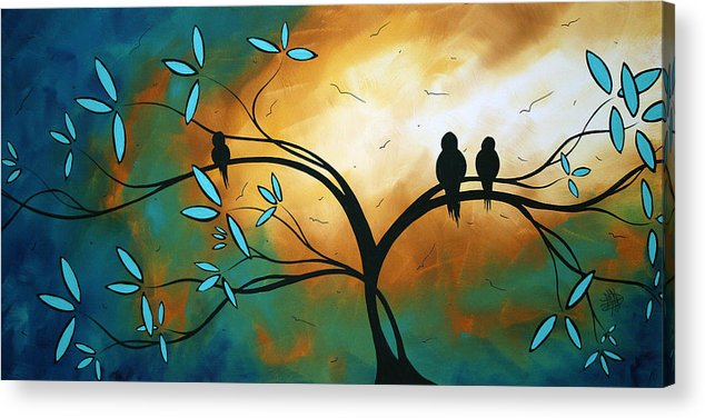 Art Acrylic Print featuring the painting Longing By Madart by Megan Duncanson