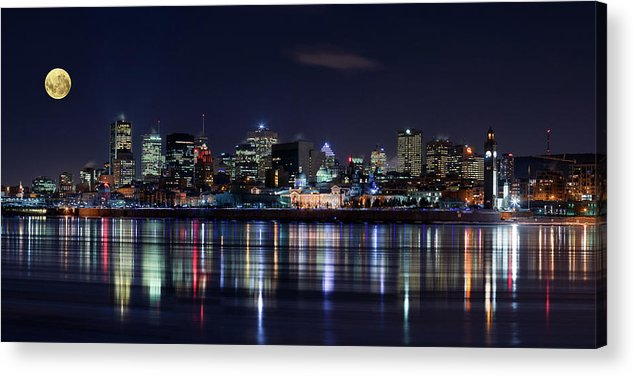 Night Acrylic Print featuring the photograph Montreal Night by