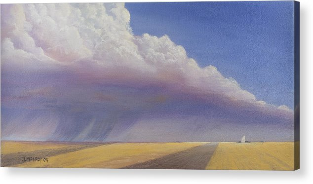 Landscape Acrylic Print featuring the painting Nebraska Vista by Jerry McElroy