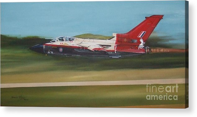 Aviation Acrylic Print featuring the painting Ok Lets Try Reheat by Terence R Rogers