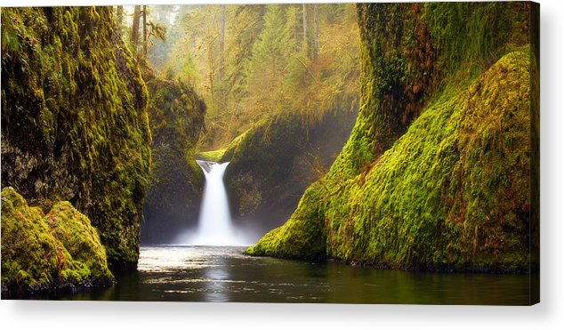 Lush Acrylic Print featuring the photograph Punchbowl Pano by Darren White