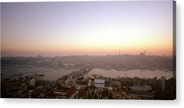 Istanbul Acrylic Print featuring the photograph Romantic Istanbul by Shaun Higson