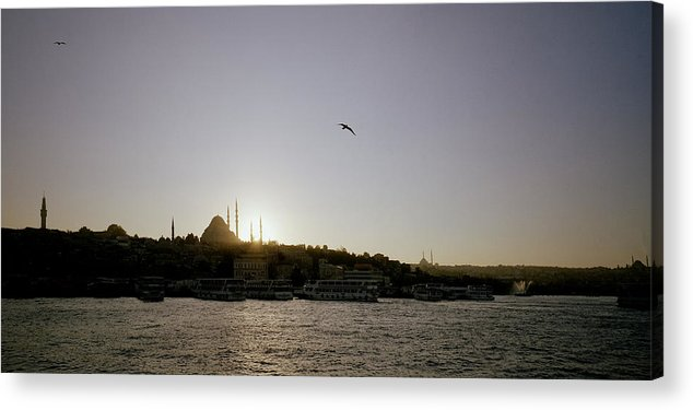 Istanbul Acrylic Print featuring the photograph Setting Sun Over Istanbul by Shaun Higson