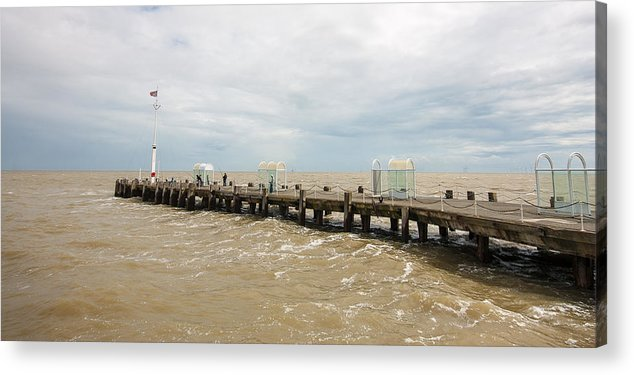 Beach Acrylic Print featuring the photograph Clacton Pier by Dawn OConnor