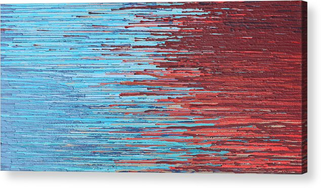 Abstract. Blue Acrylic Print featuring the painting Untitled by Kate Tesch