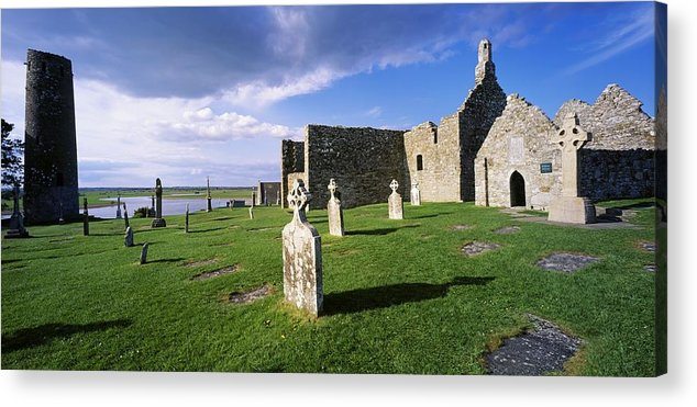 Abbeys Acrylic Print featuring the photograph Cemetery In Front Of A Monastery by The Irish Image Collection