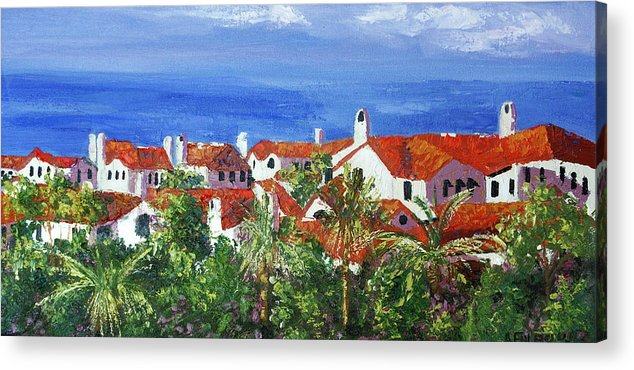 Off The Coast Acrylic Print featuring the painting Off The Coast by Anthony Falbo