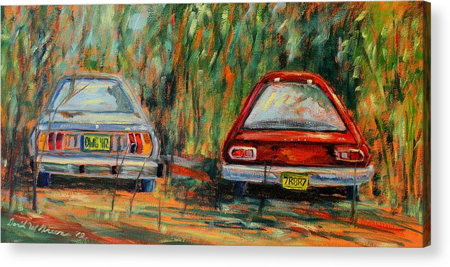 Cars Acrylic Print featuring the painting Red Beans And Rice by Daniel W Green