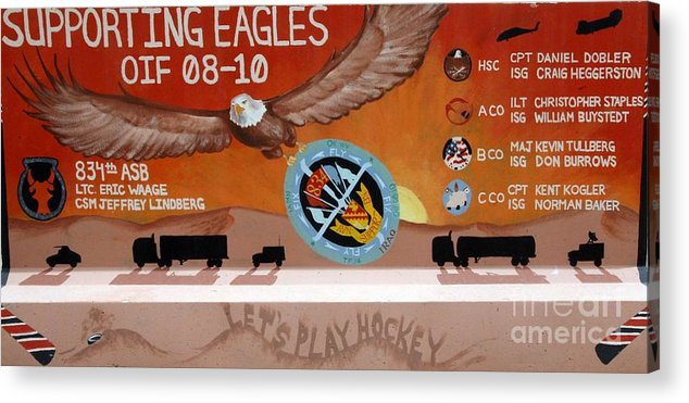 Eagles Acrylic Print featuring the photograph Supporting Eagles - Oif 08-10 by Unknown