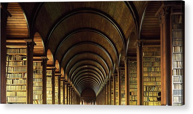 Books Acrylic Print featuring the photograph Thomas Burgh Library, Trinity College by The Irish Image Collection
