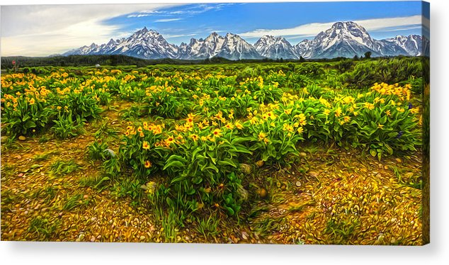 Wind River Range Acrylic Print featuring the photograph Wind River Range In West Central Wyoming - 03 by Gregory Dyer