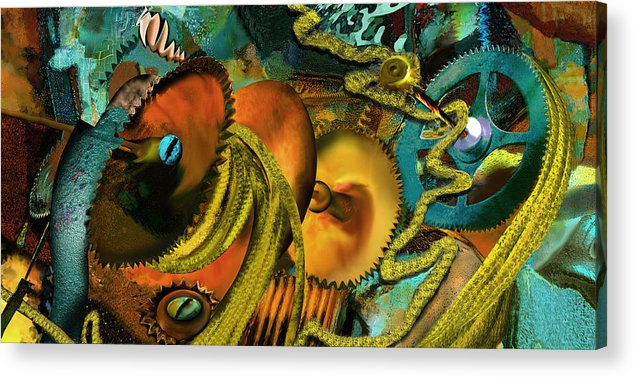 Science Acrylic Print featuring the painting The Riotous Rope by Anne Weirich