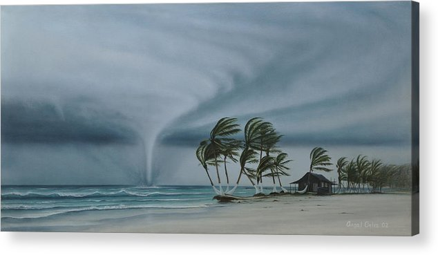 Acrylic Print featuring the painting Mahahual by Angel Ortiz