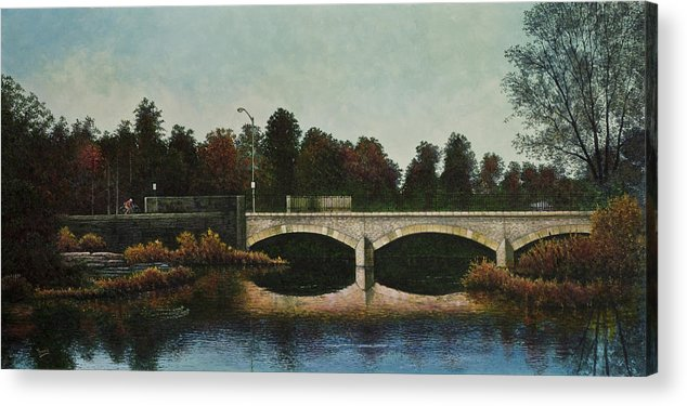 Forest Park Acrylic Print featuring the painting Bridges Of Forest Park Iv by Michael Frank