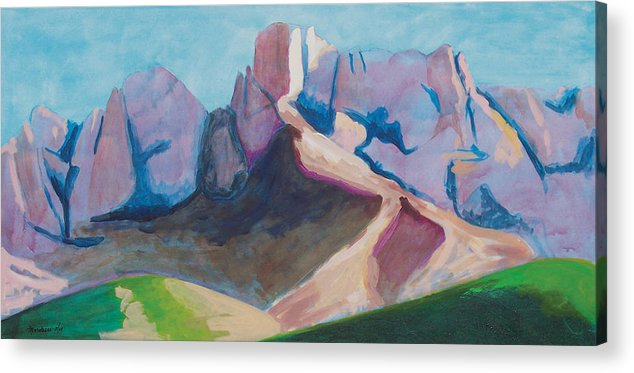 Landscape Acrylic Print featuring the painting Catalina Blue by Mordecai Colodner