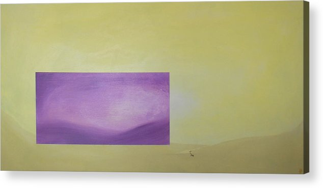 Abstract Acrylic Print featuring the painting Change by Bojana Randall