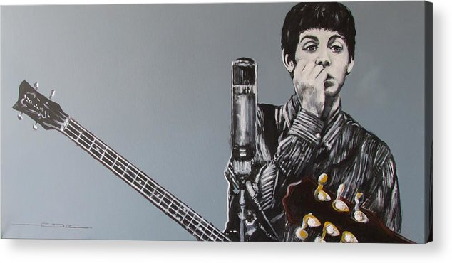 Paul Mccartney Acrylic Print featuring the painting D-note by Eric Dee