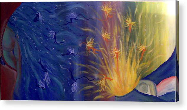Colorful Acrylic Print featuring the painting Dance Of Life by Hollie Leffel