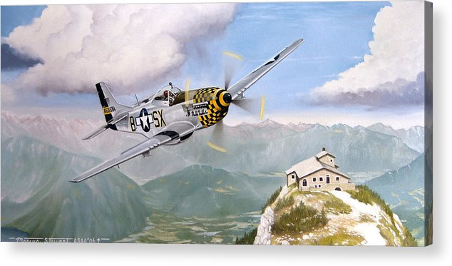 Military Acrylic Print featuring the painting Double Trouble Over The Eagle by Marc Stewart