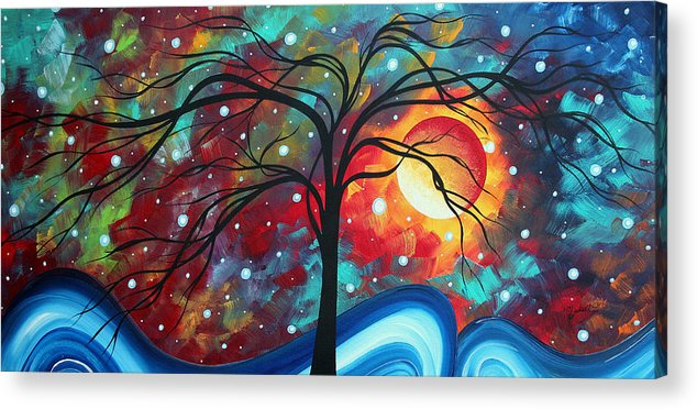 Original Acrylic Print featuring the painting Envision The Beauty By Madart by Megan Duncanson