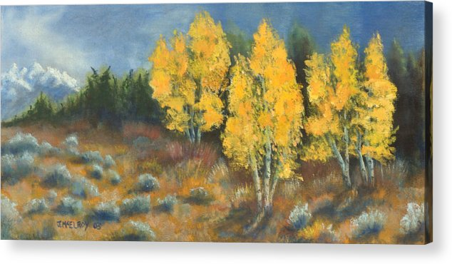 Landscape Acrylic Print featuring the painting Fall Delight by Jerry McElroy