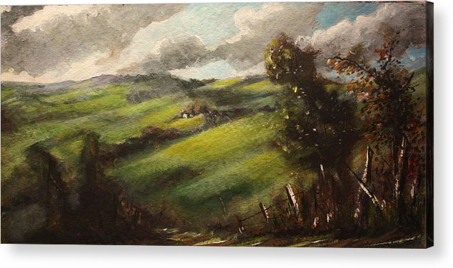 Ireland Acrylic Print featuring the painting Ireland County Tipperary by Yvonne Ayoub