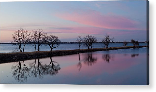 Lake Acrylic Print featuring the photograph Lake Overholser Sunset by Jonas Wingfield
