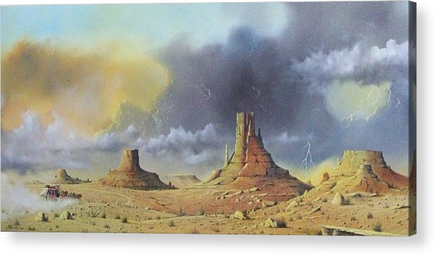 Landscape Acrylic Print featuring the painting Making Up Time by Don Griffiths
