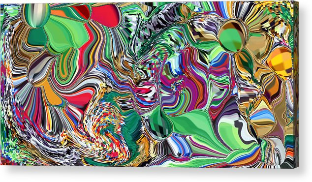 Hand Signed Original Acrylic Print featuring the digital art Melted by Nancy Forever