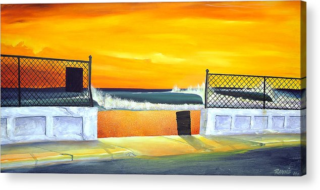 Surf Acrylic Print featuring the painting N.e.p. by Ronnie Jackson