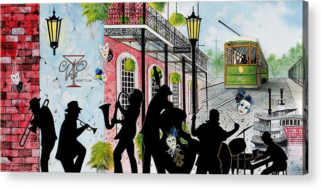 City Acrylic Print featuring the painting New Orleans Magic by Don Griffiths